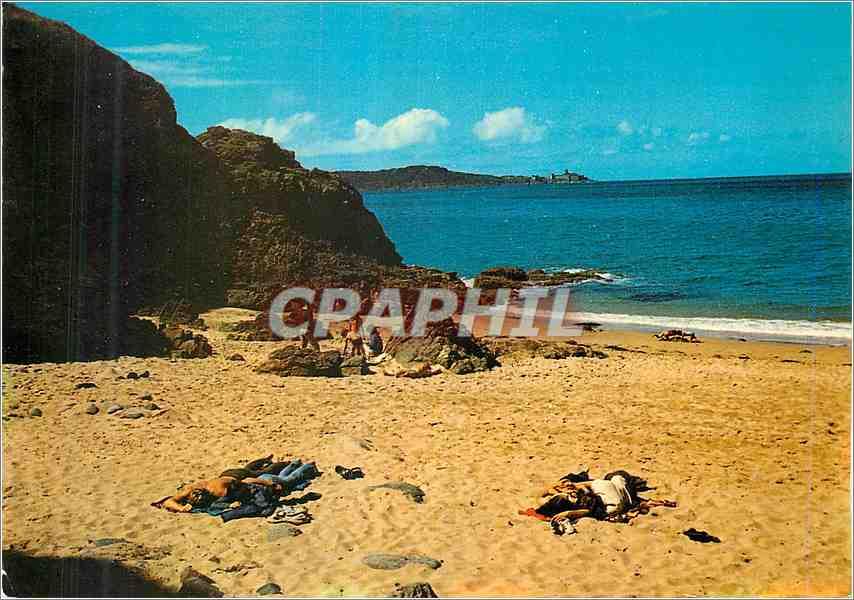 Ansichtskarte AK Saint Cast C du N La plage de la Pissotte au fond le Fort de la Latte 0