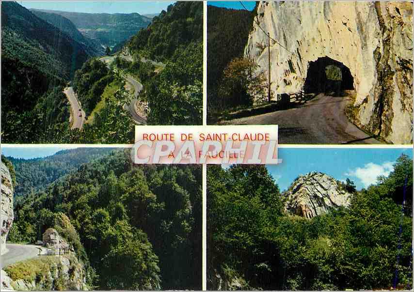 Ansichtskarte AK Sainte Claude Capitale Mondiale de la Pipe La Route de St Claude a la Faucille 0