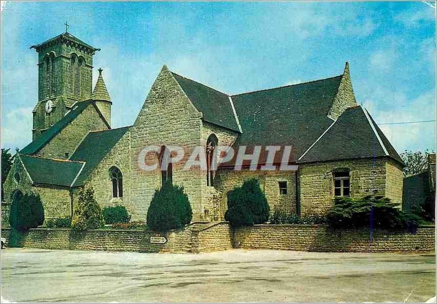 Ansichtskarte AK Priziac pres Le Faouet Morbihan L Eglise 0