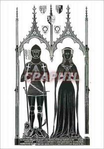 Moderne Karte Brass Rubbing Sir Simon Felbrygge and his wife Margaret Felbrigg Church Norfolk