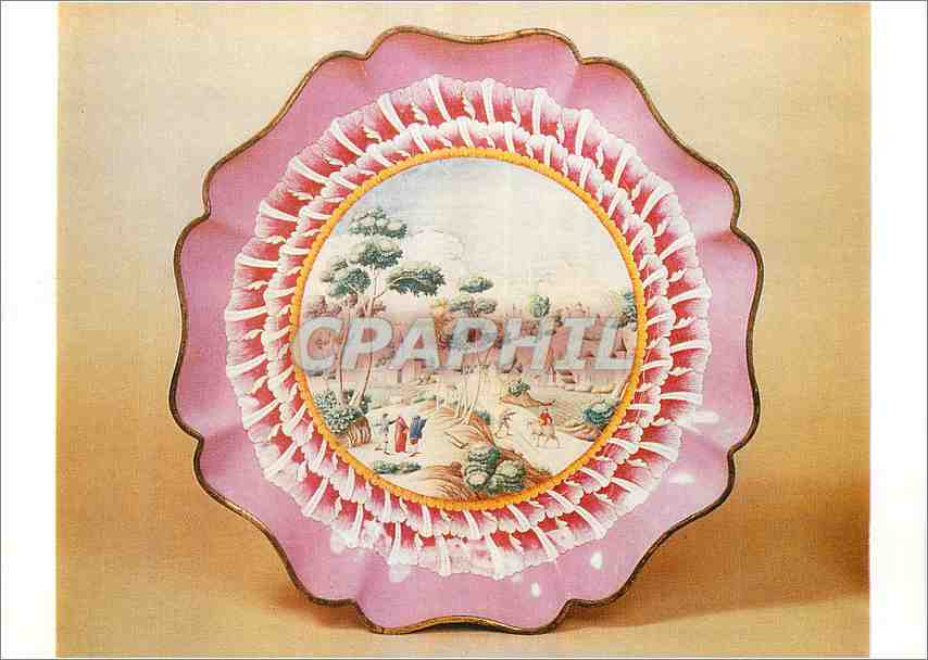 Moderne Karte Dish Painted enamels on copper Victoria and Albert Museum  Chine China 0