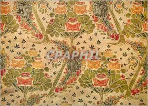 Moderne Karte Jacquard woven silk designed by Arthur Silver of the Silver Studios Victoria and Albert Museum