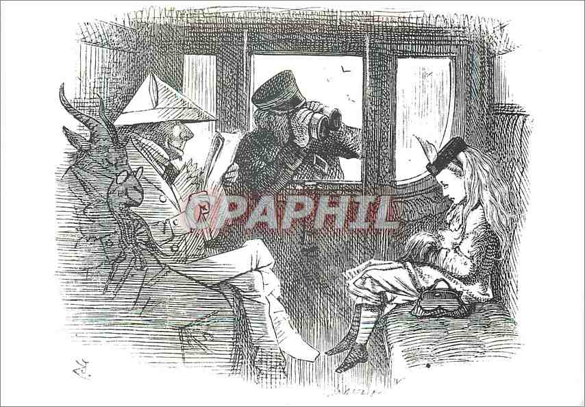 Moderne Karte Alice in the train Victoria and Albert Museum Lewis Carroll 0
