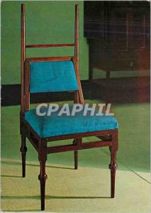 Moderne Karte Ebonised Oak Chair With upholstered seat and bac and turned decoration on the legs Victoria and