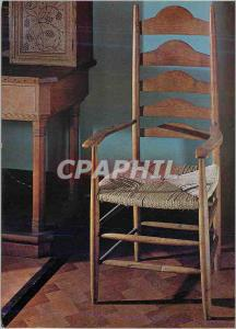 Moderne Karte Arm Chair Ash ladder back with rush seat Victoria and Albert Museum Ernest Gimson