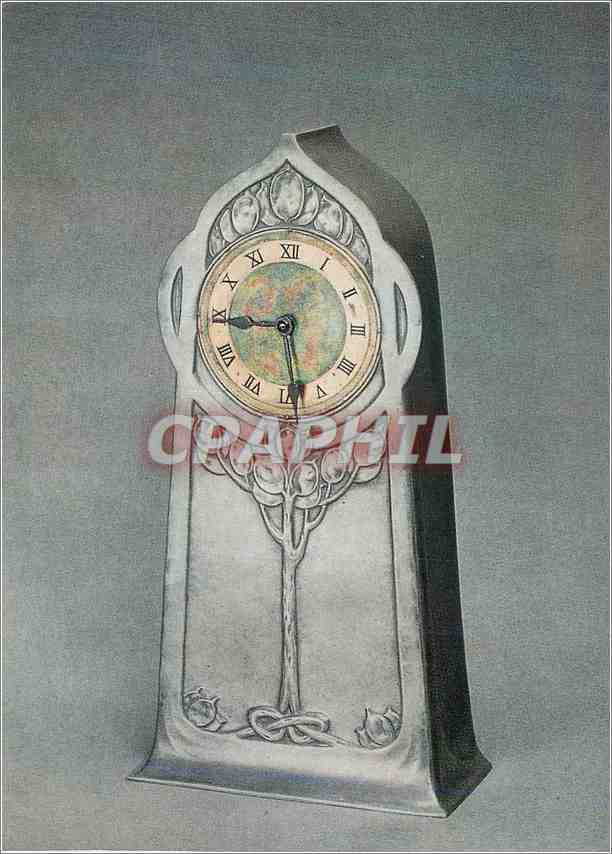 Moderne Karte Tudric pewter clock with enamel decoration Victoria and Albert Museum Haseler 0