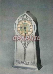 Moderne Karte Tudric pewter clock with enamel decoration Victoria and Albert Museum Haseler
