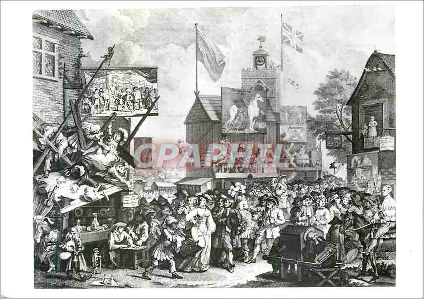 Moderne Karte William Hogarth Southwark Fair Etching and Engraving Victoria and Albert Museum 0