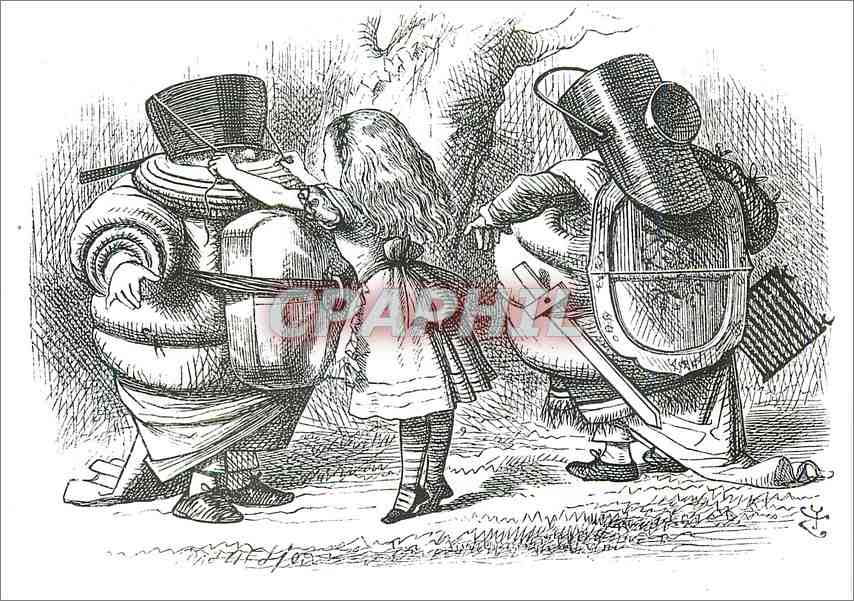 Moderne Karte Alice arming Tweedledum and Tweedledee Victoria and Albert Museum 0