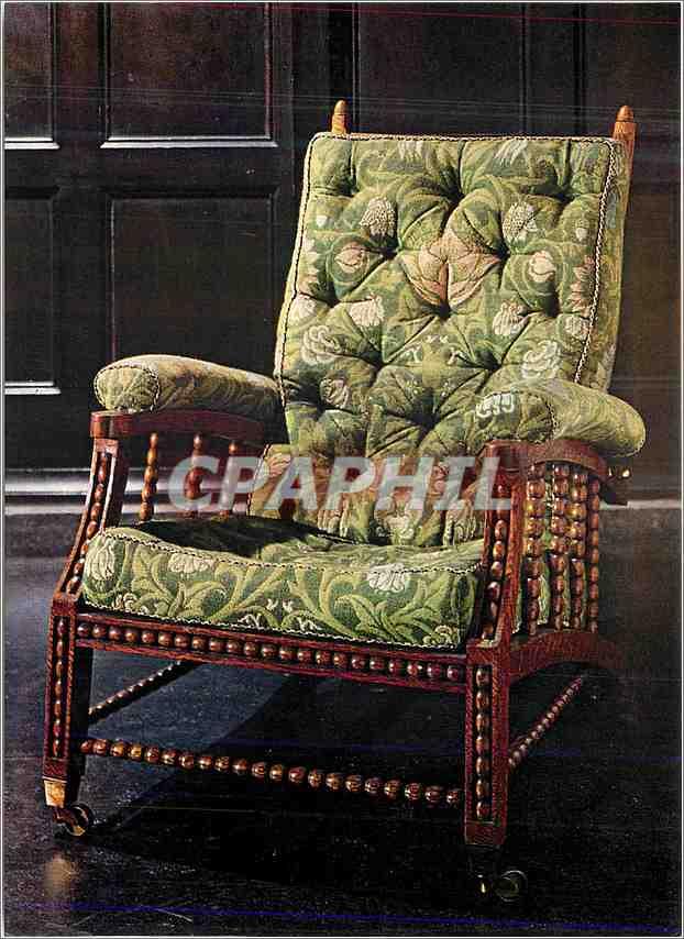 Moderne Karte Adjustable backed chair turned oak Victoria and Albert Museum Williams Morris Hairborne Birmingh 0