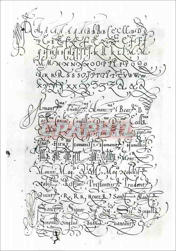 Moderne Karte Page from a manuscript written on vellum by Francesco Moro Victoria and Albert Museum 0