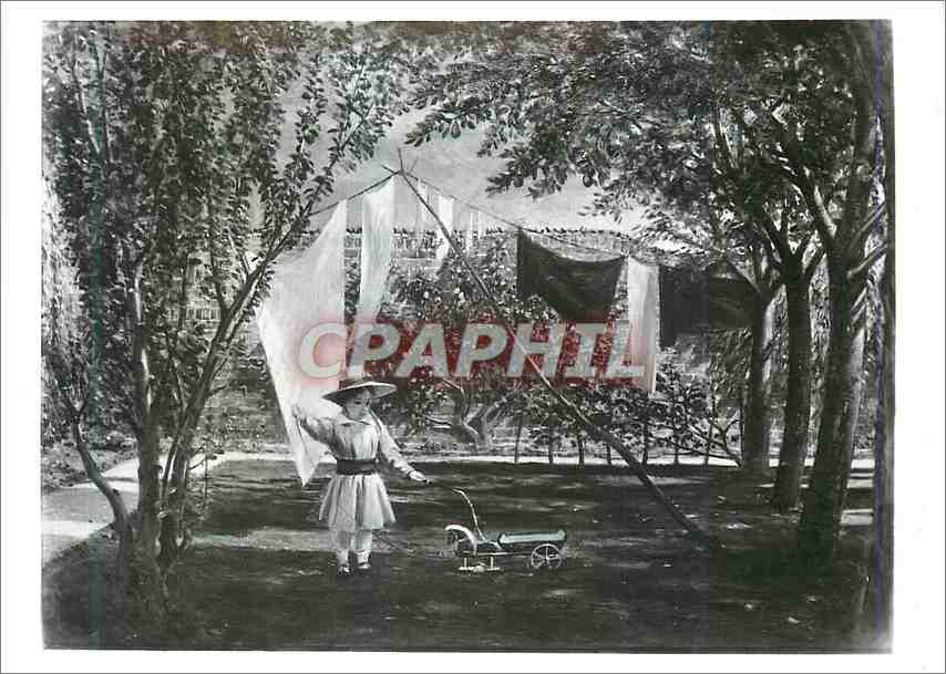Moderne Karte A garden scene Portrait for the artists youngest son Victoria and Albert Museum Sheespshanks Gif 0