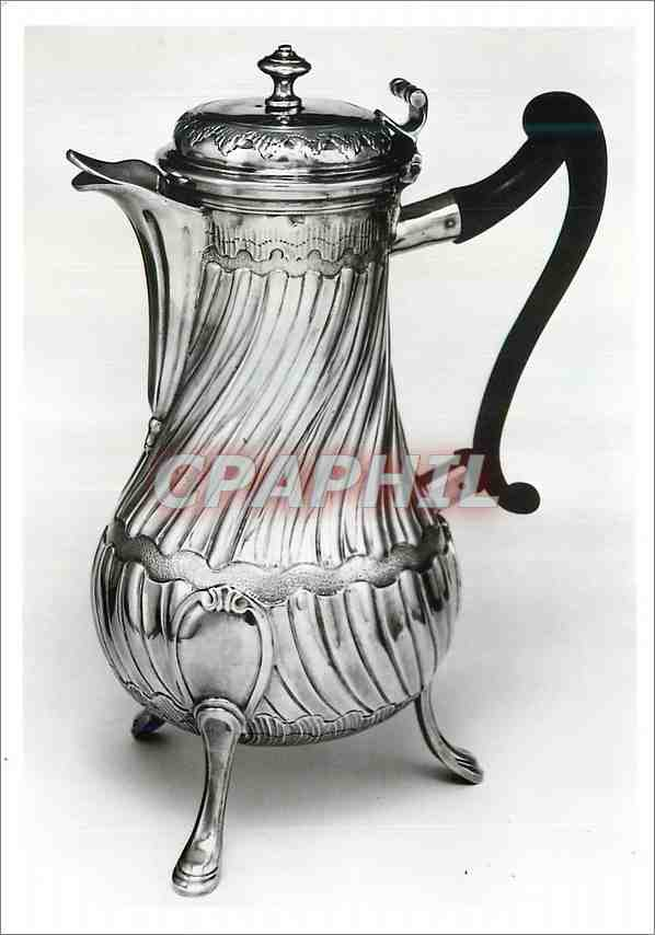Moderne Karte Coffee pot Silver Mark of JC Roquillet Desnoyers Victoria and Albert Museum 0