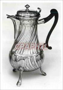 Moderne Karte Coffee pot Silver Mark of JC Roquillet Desnoyers Victoria and Albert Museum