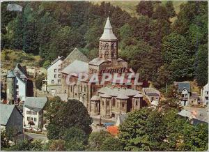 Moderne Karte Orcival Puy de Dome Eglise Romane
