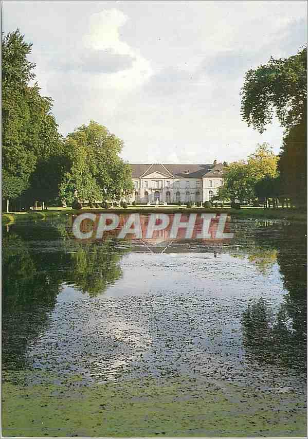 Moderne Karte L Abbaye royale de Chaalis Vue du parc et du chateau 0