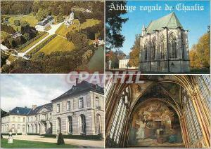 Moderne Karte L Abbaye royale de Chaalis Vue aerienne La chapelle abbatiale