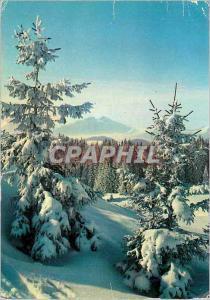 Moderne Karte Chamonix Mont Blanc Haute Savoie Paysage de neige