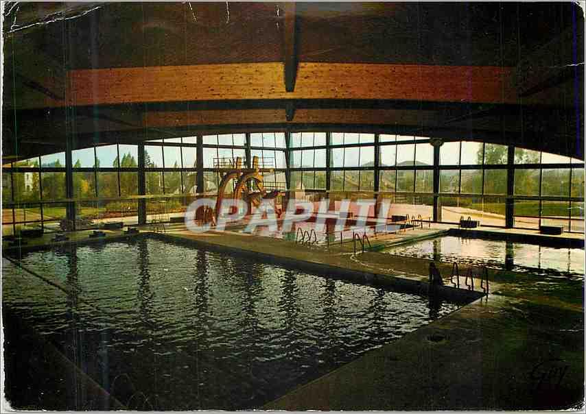Moderne Karte Aulnay sous bois Seine Saint Denis Le stade nautique L interieur de la piscine 0