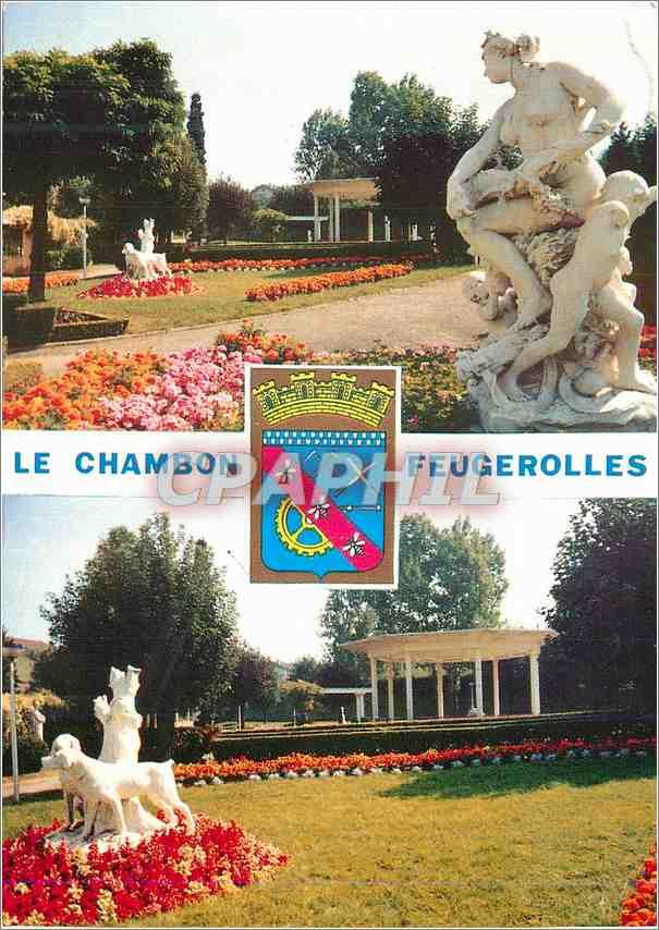 Moderne Karte Le Chambon Feugerolles Loire Le Parc Jean Moulin 0