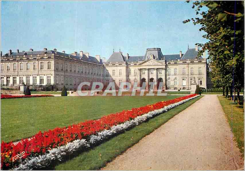 Moderne Karte Luneville Meurthe et Moselle Le chateau vu du Parc 0