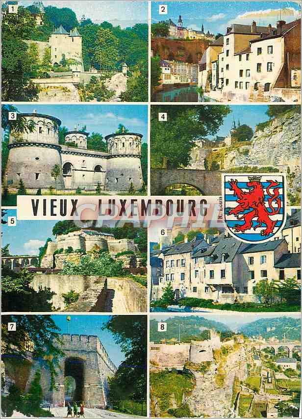 Moderne Karte Luxembourg Les Trois Tours Vue pittoresque au Grund Trois Glands 0