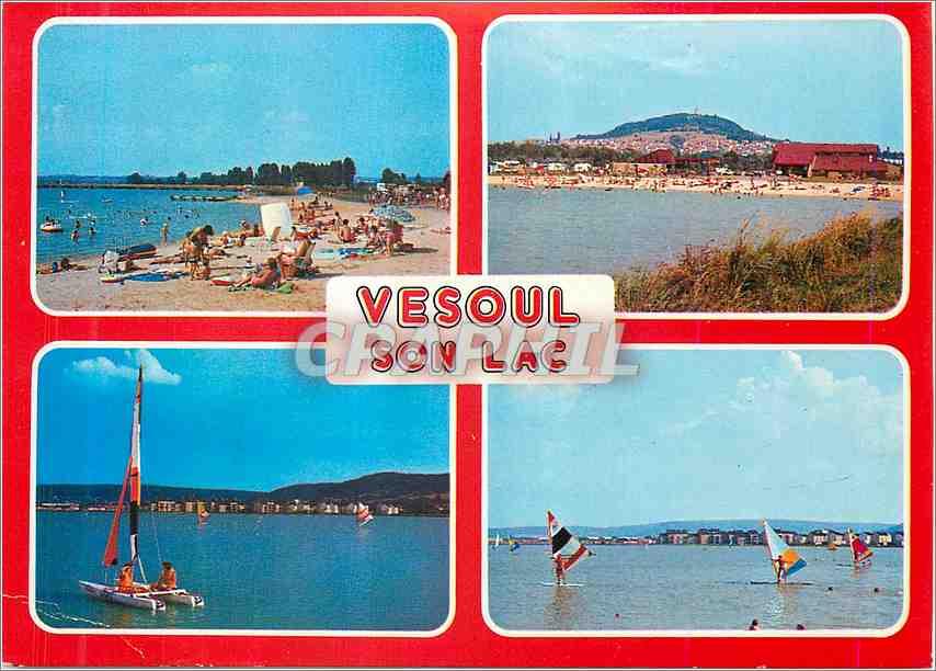 Moderne Karte Vesoul Haute Saone Le lac du district urbain de Vesoul 0