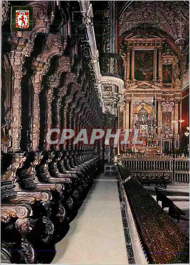 Moderne Karte Cordoba Mezquita Catedral Vue partielle du Choeur et Transept 0