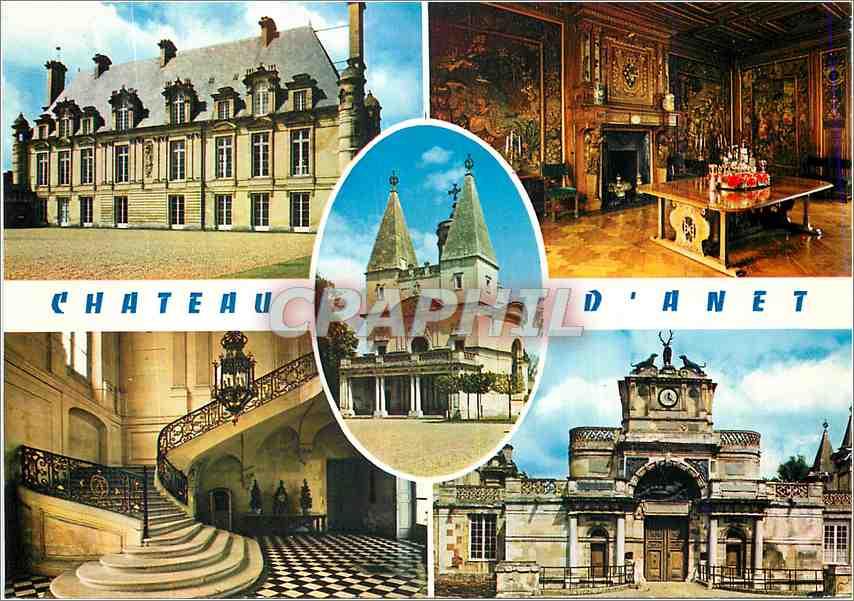 Moderne Karte Chateau d Anet Eure et Loir Facade Salle a Manger Grand 0