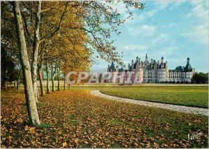 Moderne Karte Chambord Loir et Cher Le parc et la facade nord ouest du chateau