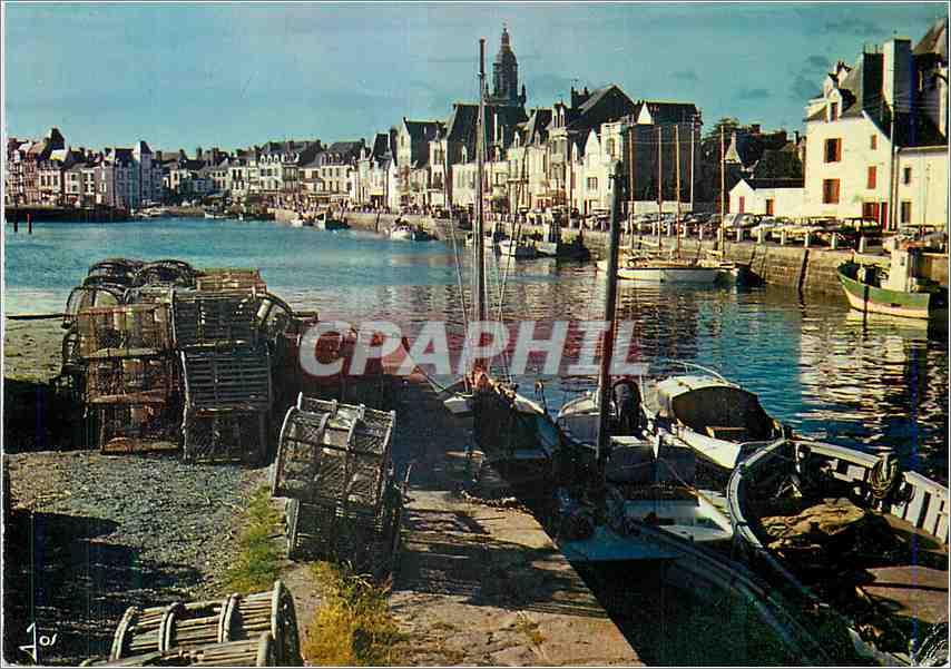 Moderne Karte Le Croisic LA Le port et les quais Bateaux de peche 0