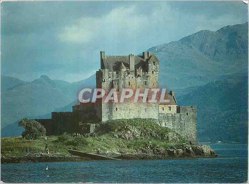 Moderne Karte Eilean Donan Castle Wester Ross 0