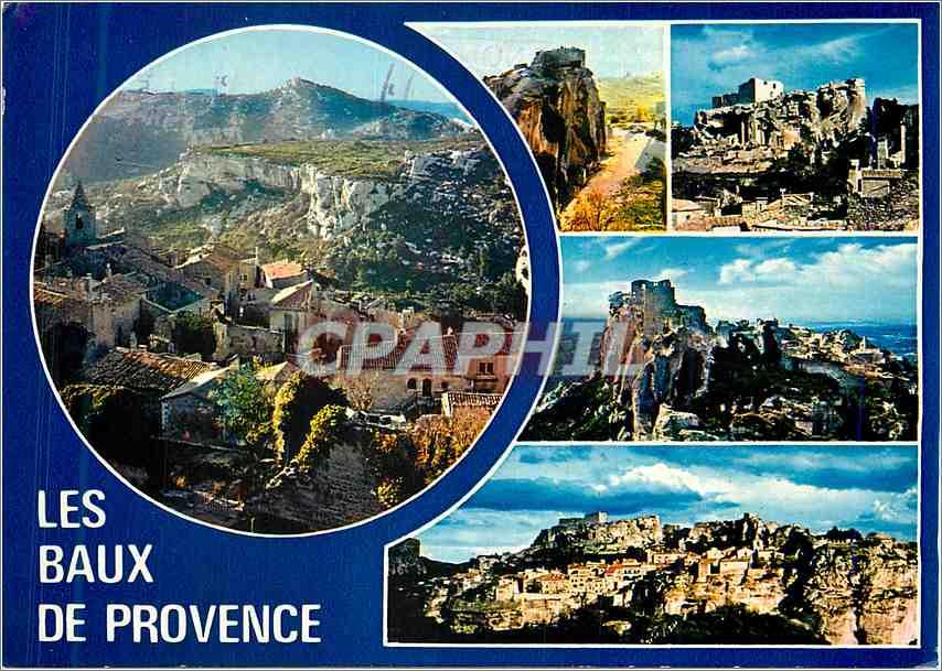 Moderne Karte Les Baux de Provence Souvenir 0
