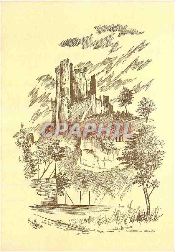 Moderne Karte Lavardin Loir et Cher Le Chateau D apres J Bernadac 0