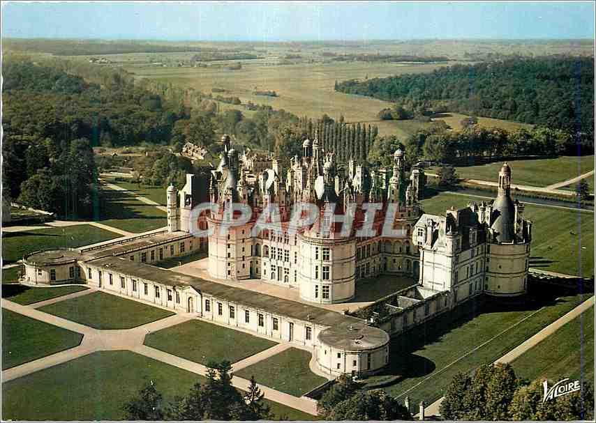 Moderne Karte Chambord Loir et Cher La facade sud et la porte royale 0