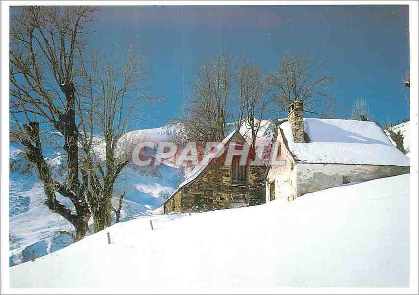 Moderne Karte Pyrenees Granges en hiver 0