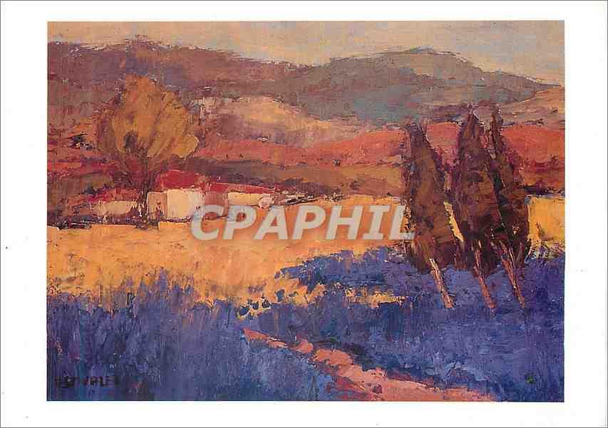 Moderne Karte La Provence Peinture al huile d Elisabeth Estivalet 0