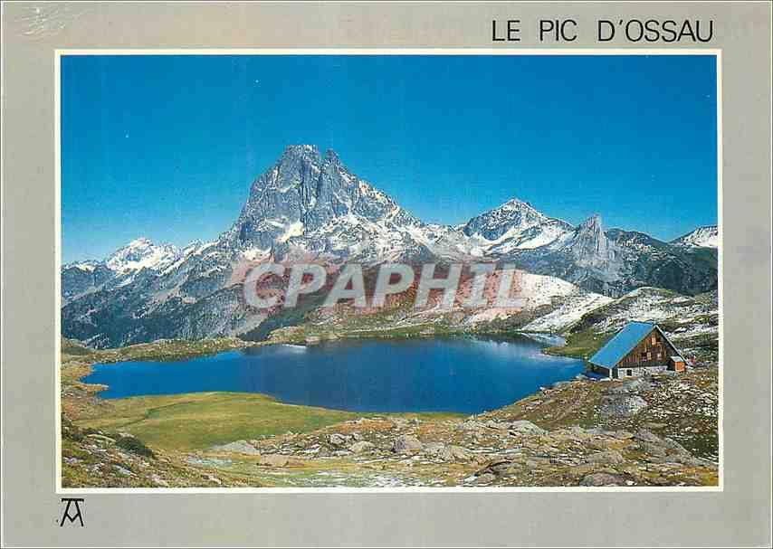 Moderne Karte Les Pyrenees Le Pic d Ossau Lac et refuge d Axous 0
