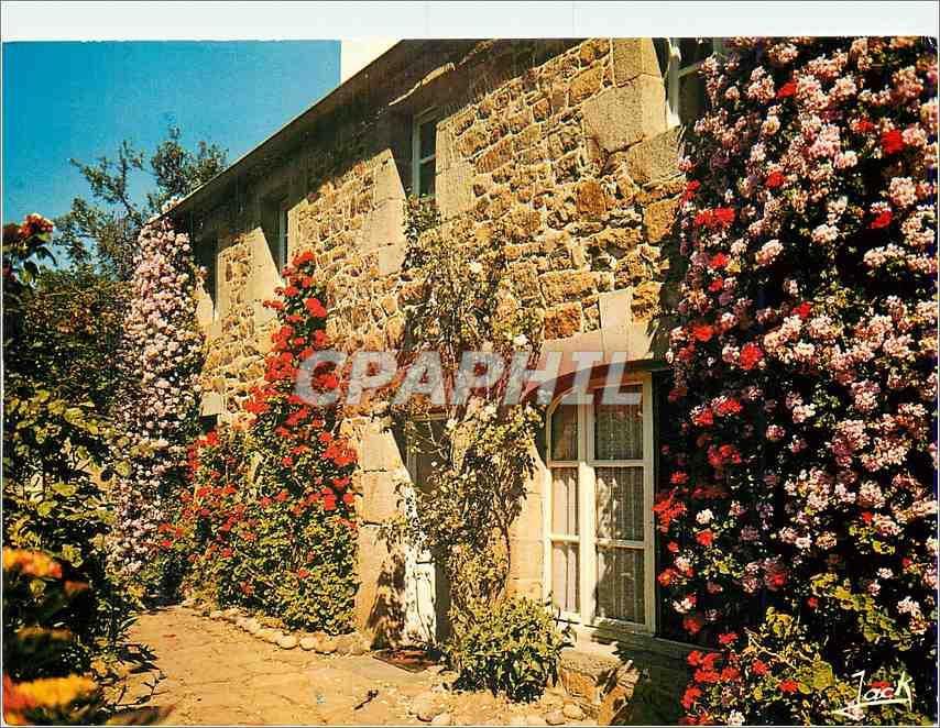 Moderne Karte Couleurs de Bretagne Maison fleurie 0