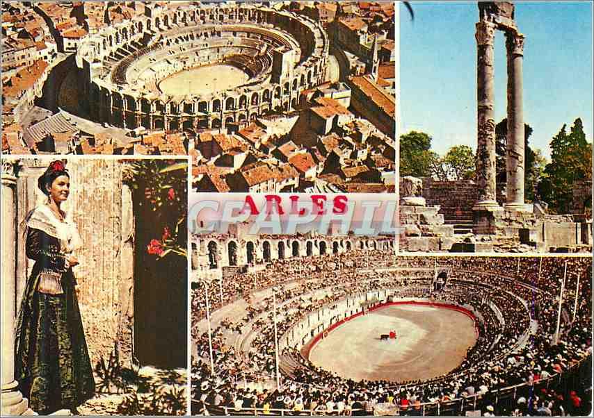 Moderne Karte Arles B du R Folklore 0