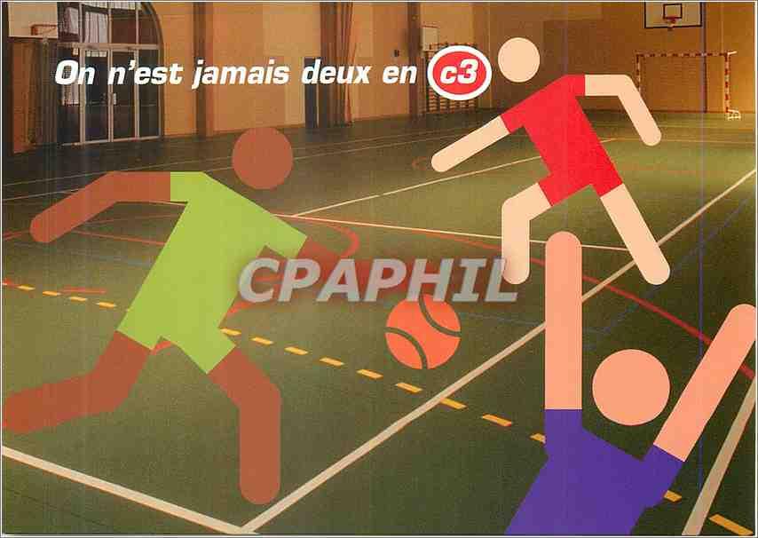 Moderne Karte On n est jamais deux en C3 Basket Ball Basket-Ball 0