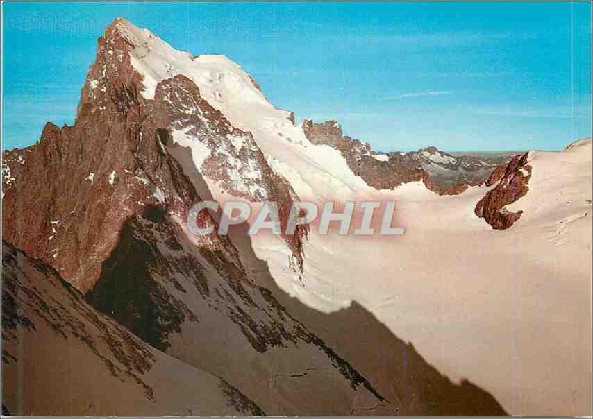 Moderne Karte Massif de l Oisans Les Ecrins et la Glacier Blanc 0
