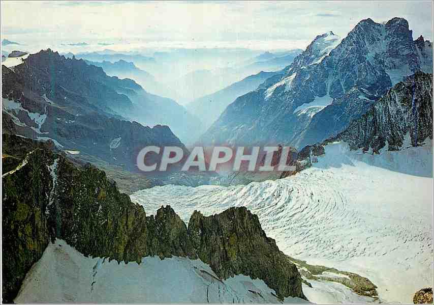 Moderne Karte Massif de l Oisans du Glacier Blanc vers Ailefroide 0