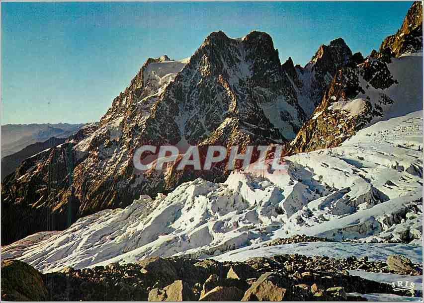 Moderne Karte En oisans Le Pelvoux le Glacier des Violettes et le Glacier Blanc 0
