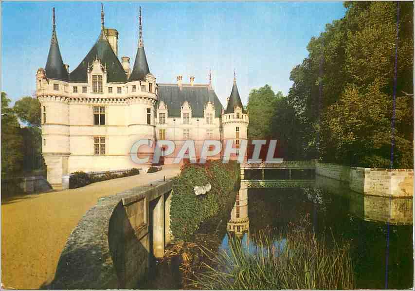 Moderne Karte Le chateau d Azay 0
