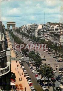 Moderne Karte Paris Avenue des Champs Elysees