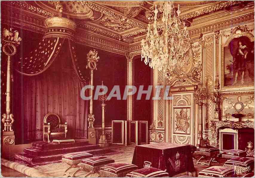 Moderne Karte Palais de Fontainebleau Seine et Marne La Salle du Trone 0