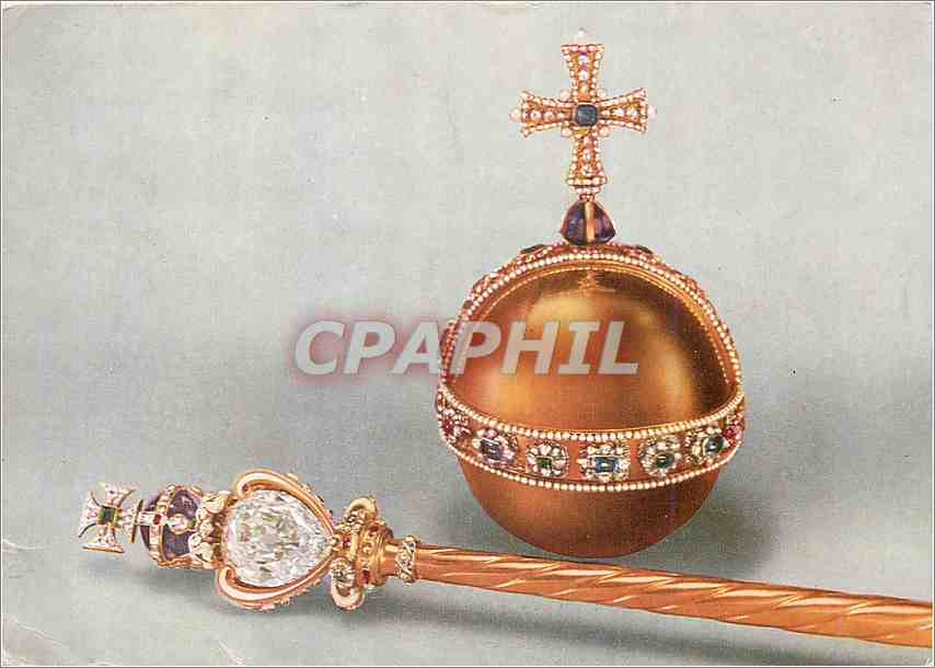 Moderne Karte The sovereigns orb and head of the sovereigns sceptre with the cross 0