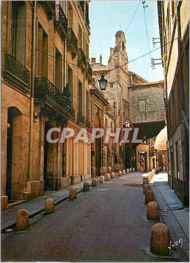 Moderne Karte Montpellier Herault La Rue Jacques Coeur et l Eglise Sainte Foy 0