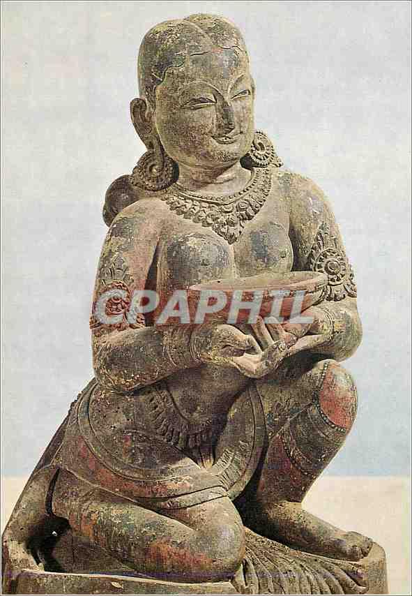 Moderne Karte Kniende Stifterin mit Spendeschale Bhatapur Museum Bhaktapur 0